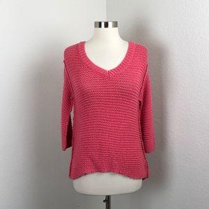 LC Lauren Conrad dark pink knit sweater